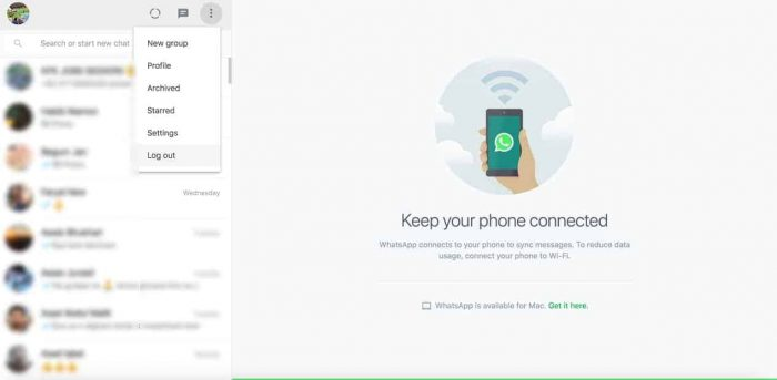 Logout: How can I use Whatsapp on my laptop