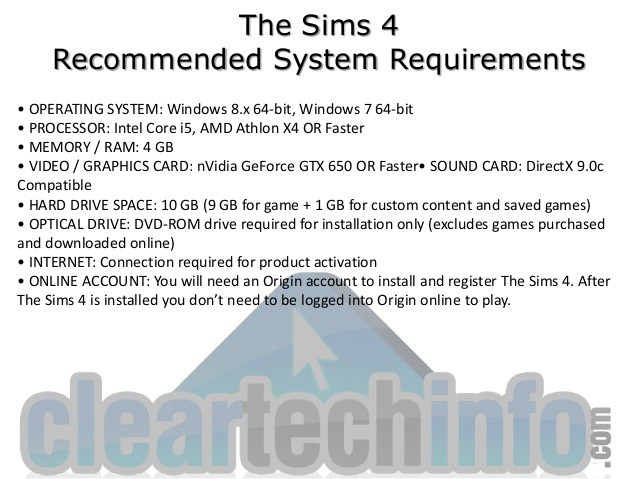 Functional Requirements of Sims4 & HP Laptops