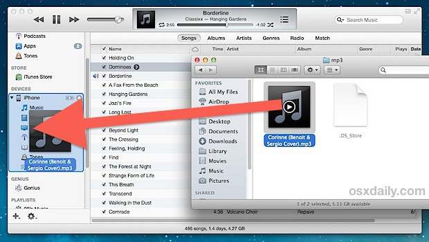Transfer the iTunes library manually